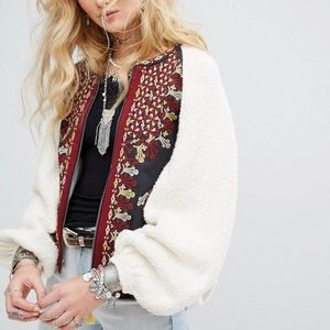 Free People Two Faced Embroidered Jacket